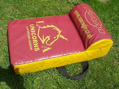"""24"""" Youth """"Latchford Albion"""" Rugby Club Tackle Contact Shield Wedge Ram Bosh Bag"""