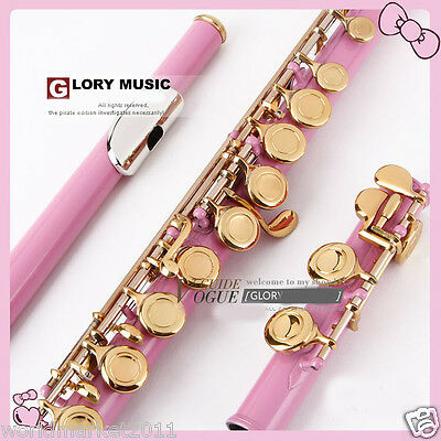 #20 New Pink C-Note 16-Holes High-Grade Nickel-Plated Musical Instruments Flute