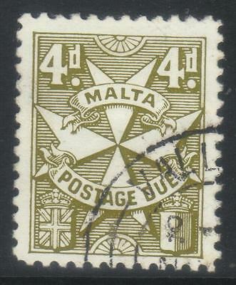 Malta 1925 Postage Due Sgd17 Used Cat £16