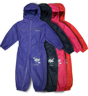 Regatta Childrens Puddle Rain Suit Waterproof Breathable All In One / Child Suit