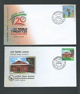 Nepal 2014 ICC World Twenty 20 & Natural History Museum Covers