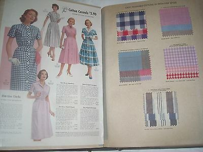 1957 Montgomery Ward Fabric Samples catalog Feel the fabrics See the colors