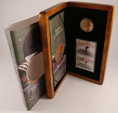 Canada 2004 The Elusive Loon Dollar Coin & Stamp Set