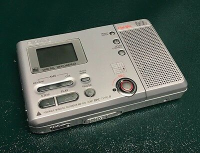 SONY MINIDISC RECORDER MZ-B10 Tested & Working