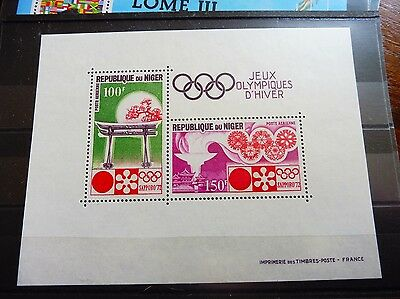 £££ Niger bloc timbre stamps MNH** jeux olympiques Hiver Sapporo 1972
