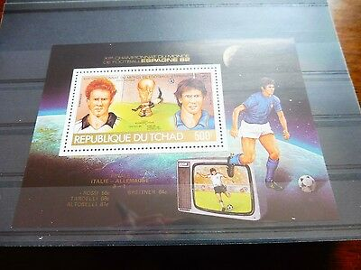 £££ Tchad bloc timbre stamps MNH** Football soccer - Espana 1982 Finale