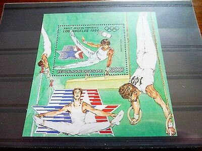 £££ Tchad bloc timbre stamps MNH** jeux olympiques 1984 - Los Angeles