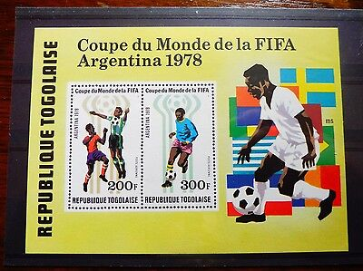 £££ Togo bloc timbre stamps MNH** soccer football Argentine 1978
