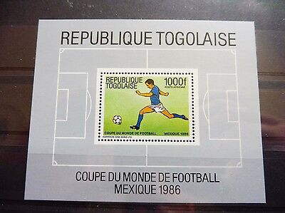 £££ Togo bloc timbre stamps MNH** soccer football MEXICO 1986
