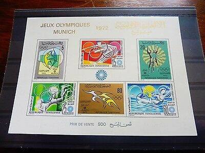 £££ Tunisie bloc timbre stamps MNH** jeux olympiques MUNICH 1972
