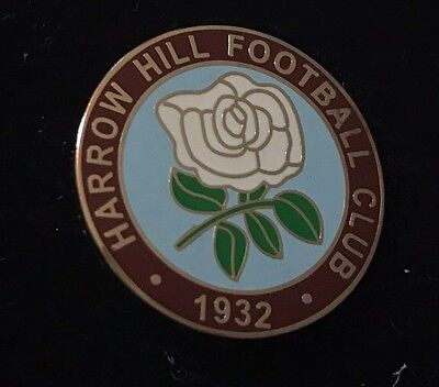 Harrow Hill Football Club Metal Pin Badge Excellent Condition