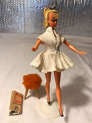 "1950s BILD LILLI DOLL 7.5"" WITH OUTFIT AND ACCESSORIES"