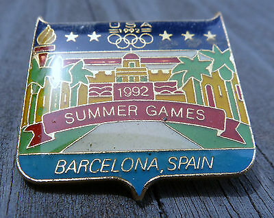 1992 Summer Games Barcelona, Spain USA Olympic Pin