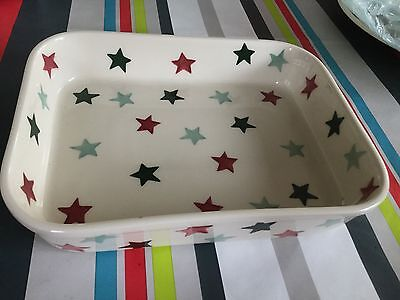 Emma Bridgewater Christmas Stars Medium Baker Discontinued New Best