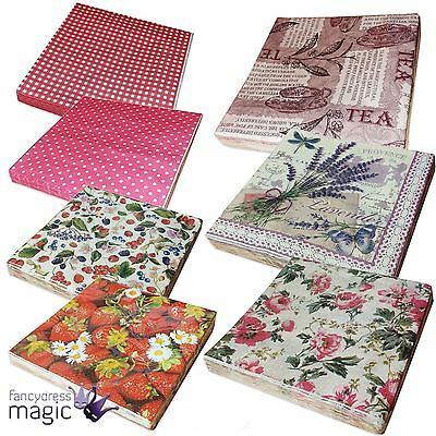 Gisela Graham Pack 20 3 Ply Paper Napkins 33cm Serviettes Party Table Decoration
