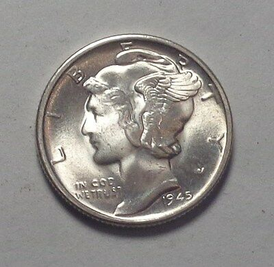 1945 Micro S MERCURY HEAD DIME-CHOICE BU!!!(A)