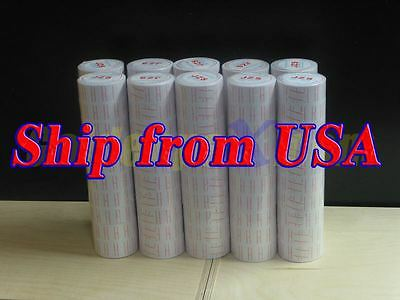 10 Tubes 100 Rolls New Price Label for MoTEX MX-5500 Single Line Label Gun
