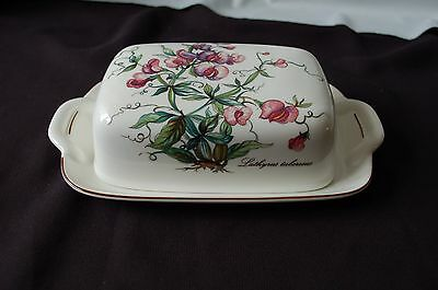 Villeroy And Boch Botanica Butter/cheese Lidded Dish With Sweet Peas
