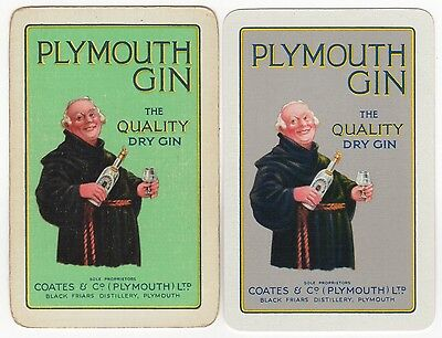 2x Playing Cards Single Swap Old COATES Black Friars Distillery PLYMOUTH DRY GIN