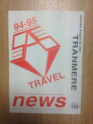 1994/95 SAS Travel News for Tranmere Rovers v Swindon Town - Issue 104