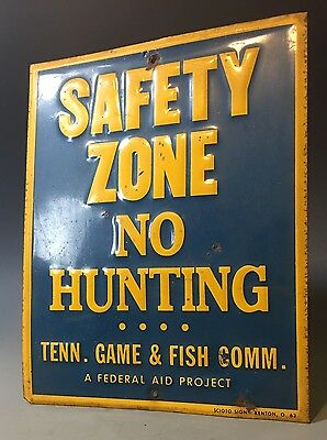 1950's Tennessee Game & Fish Sign State Park National Federal Hunting License