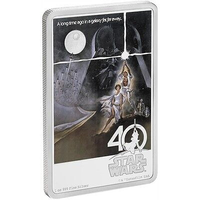2017 Star Wars 40Th Anniversary Poster Coin - 1 Oz. Silver Coin