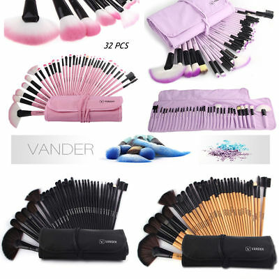Vander 32pcs Makeup Pinsel Set Lip Eye Pulver Blush Brush Kosmetik Schminkpinsel