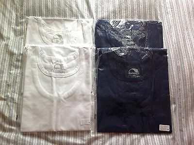 Special Needs Adult Popper Vests Size M Medium White x2 Blue x2 NEW