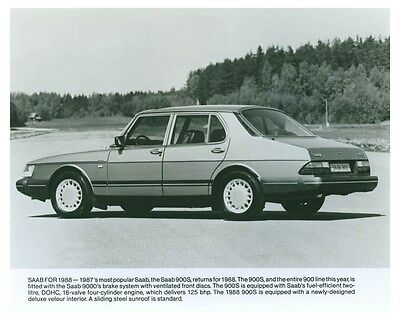 1988 Saab 900S Automobile Factory Photo ch5760