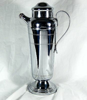 "Art Deco FARBERWARE 13.5"" CHROME COCKTAIL SHAKER Brooklyn NY"