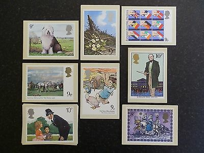 1979 PHQ Cards Mint Year Set 8 sets of Royal Mail Postcards.