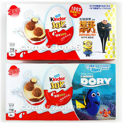 ~ 6 x KINDER Joy chocolate - DESPICABLE ME 3 + DORY - Surprise Toys * BOYs GIRLs
