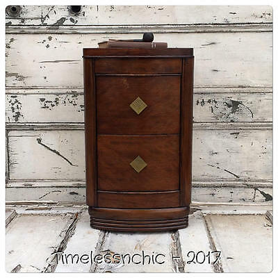 Vintage Art Deco Nightstand~Side Stand~End Table~Side Table~2 DRAWERS~Gorgeous!