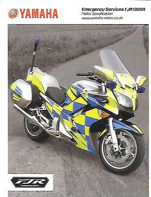 Rare Police Specification Only Yamaha Fjr1300A Motorbike Sales Brochure 2009