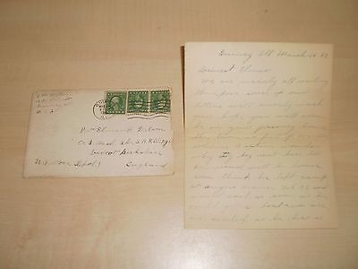 1919 Letter Sent To American Soldier At Didcot Camp Berkshire Elmer H.Wilson