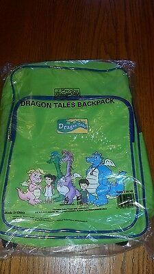 Dragon Tales Back Pack Bag Durable Canvas Book Bag 2004 NEW/Sealed Green 3+