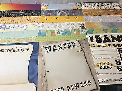 "30 Piece 12"" by 12"" School Birthday Party Kid's Acid-free Scrapbooking Sheets"