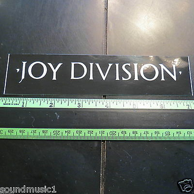 "Joy Division Sticker (7"" by 1.5"")"