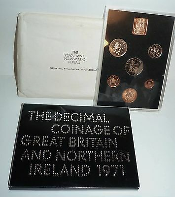 Royal Mint. The Coinage Of Great Britain & Northern Ireland. Proof Coin Set 1971