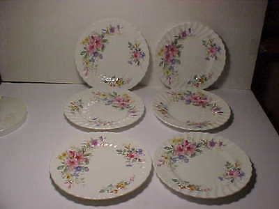 "6 Royal Doulton Arcadia 8 1/8"" Lunch Plates"