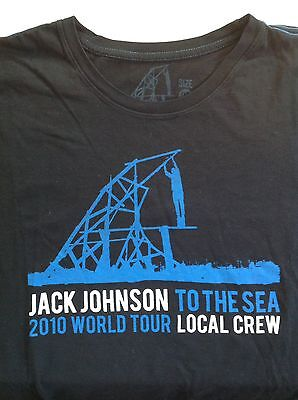 Jack Johnson 2XL XXL Tee T Shirt : Local Crew 2010 : To The Sea : Rare