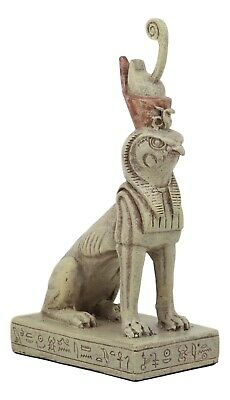 God Of Egypt Horus Falcon Bird With Pschent Crown In Sphinx Body Statue Decor