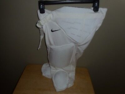 NIKE Youth  Boys White Football Pants Padded For Protection Size Medium