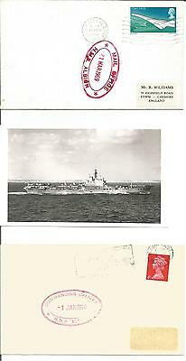 HMS Albion  Ministry of Defence Base Fleet Portsmouth Photo  1969 1970 Cover x 2