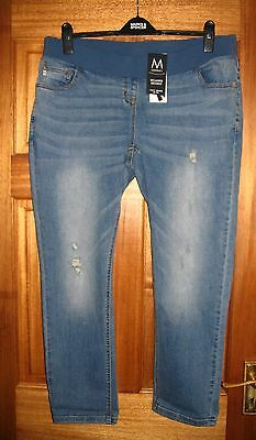 NEXT  Maternity Jeans Relaxed Skinny Under Bump  - Size 16 - BNWT