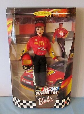 Never Removed From Box 1999 Nascar Barbie Doll / Official #94 With Bill Elliot