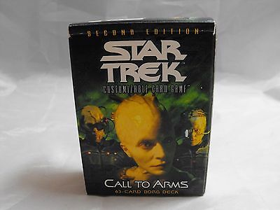 STAR TREK CCG 2E, SECOND EDITION, CALL TO ARMS BORG STARTER DECK (open)