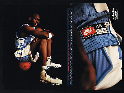 1994 Michael Jordan Photo Nike North Carolina Basketball Uniform Print Ad
