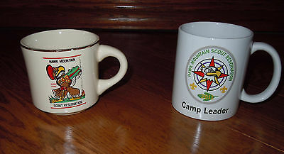 Hawk Mountain Scout Reservation Bsa Lot Of 2 Boy Scout Mugs 1 Vintage & 1 New