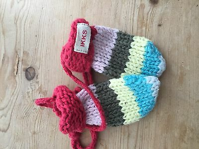 Ikks Multicoloured Baby Mittens New Without Tags
